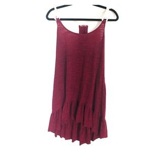 Lucky brand high to low hem bathing suit dress
